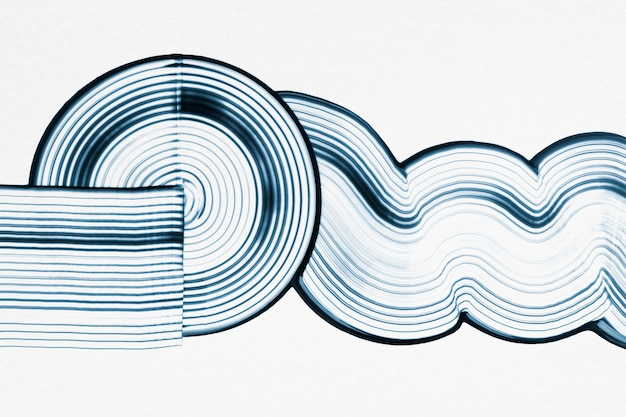 Diy wave textured background in blue and white experimental abstract art