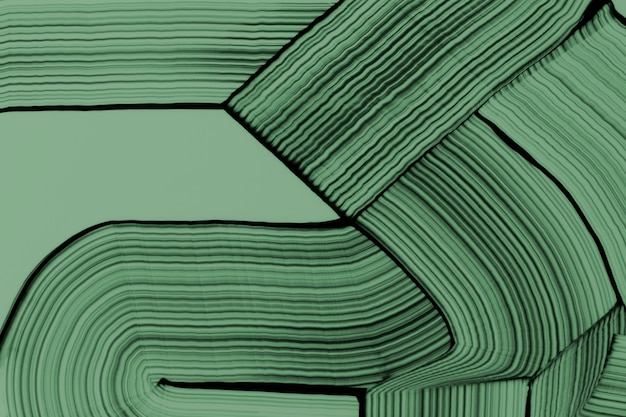 Sfondo strutturato ondulato fai-da-te in arte astratta sperimentale verde