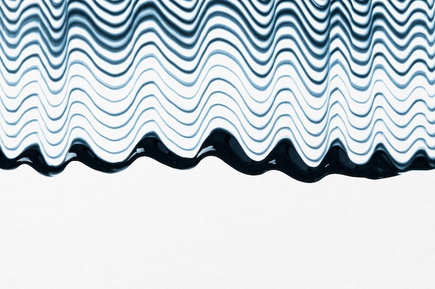 Diy waved textured border background in blue and white experimental abstract art