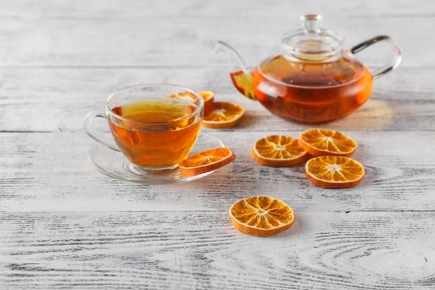 Diy зимняя композиция с сушеным апельсином, чайным стаканом