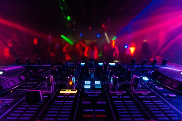 Dj mixer controller board for professional mixing of electronic music in a nightclub