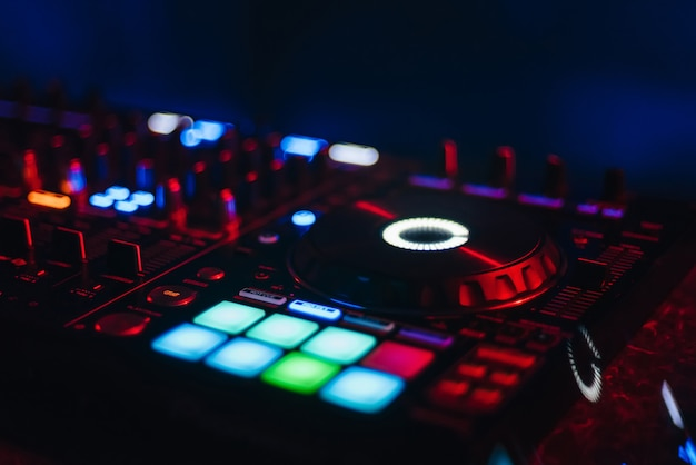 Dj mixer for mixing music and sound