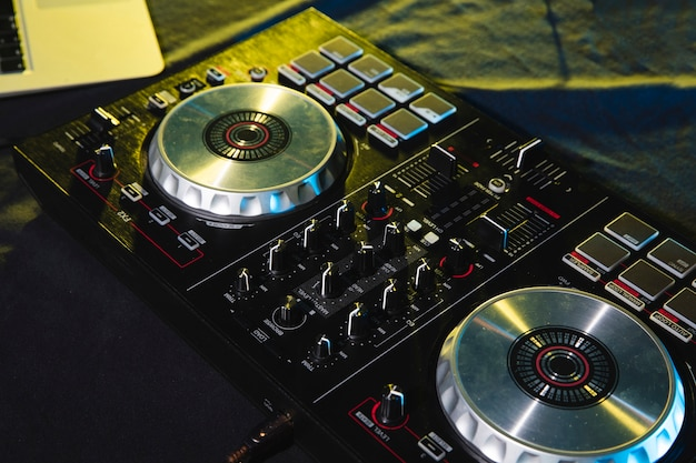 Dj mixing soundboard panel control