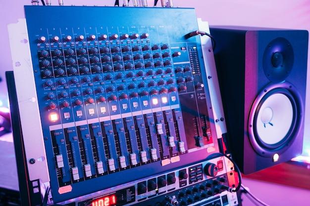 Dj sound controller in studio