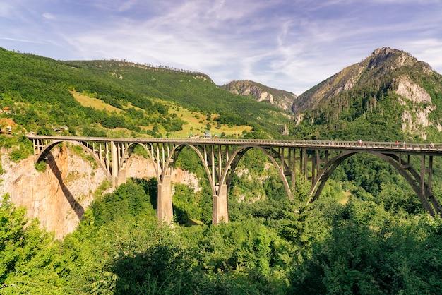 Djurdjevica tara bridge over the tara river in durmitor national park, montenegro