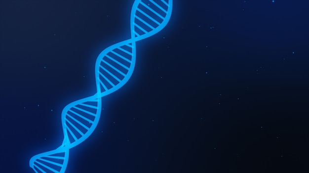 Dna分子と科学の背景。 3dイラスト