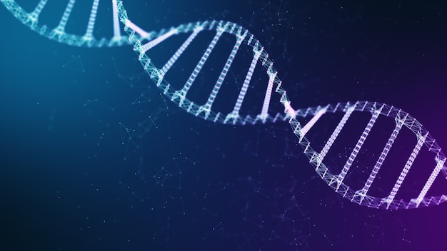 Dna chain background