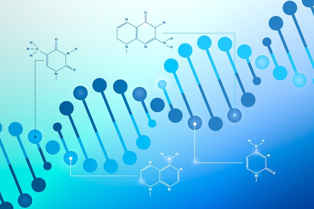 Dna & chromosome for covid or corona virus abstract background