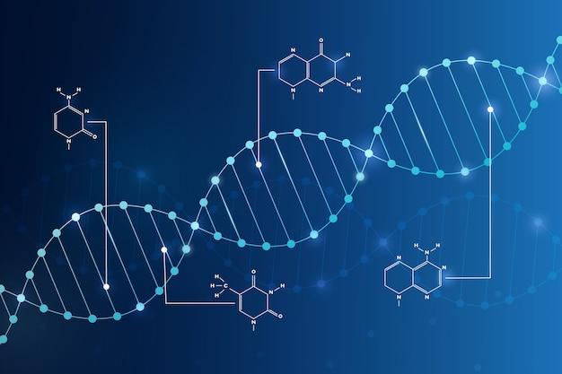 Днк и хромосома для коронавируса или коронавируса абстрактный фон