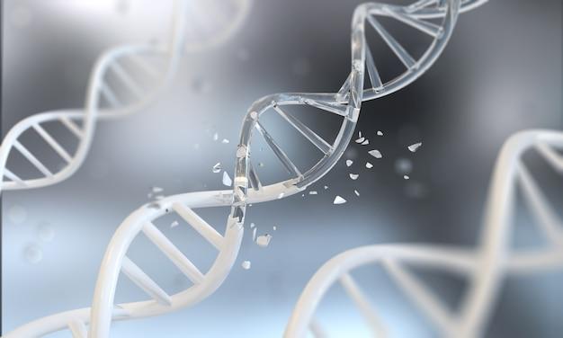 Dna helix for concept of digital genetic engineering