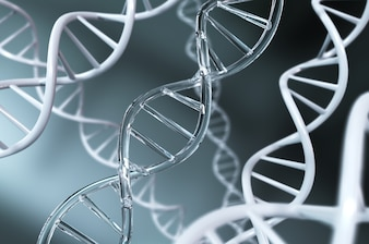 DNA helix for concept of Digital Genetic engineering and gene manipulation.