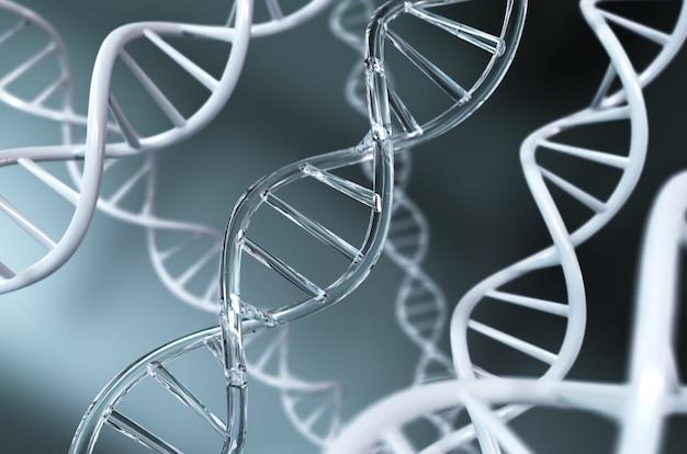 디지털 유전 공학 및 유전자 조작의 개념에 대한 dna 나선.