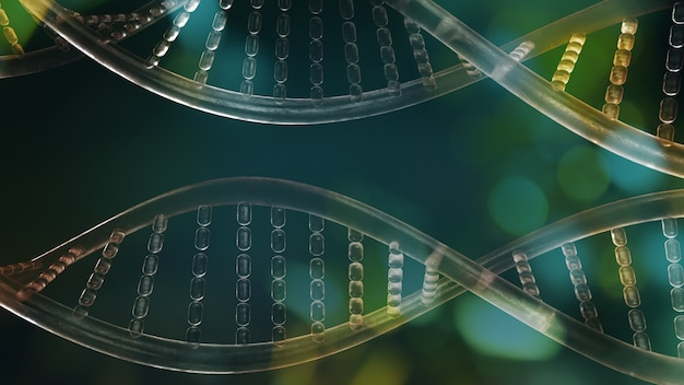 The dna image for sci or medical content 3d rendering.