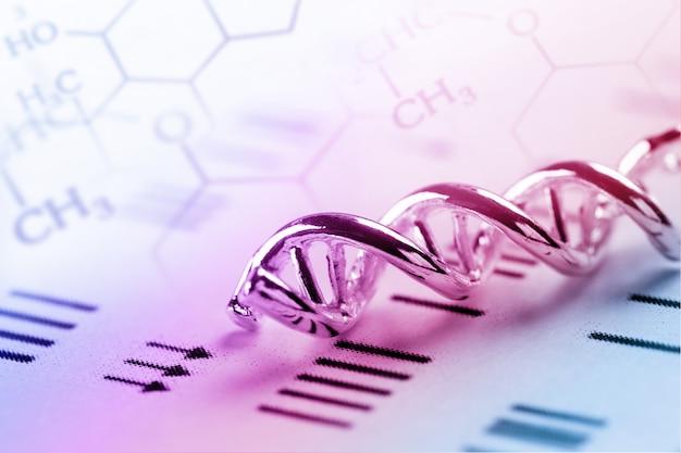 実験室試験におけるdna、分子、化学