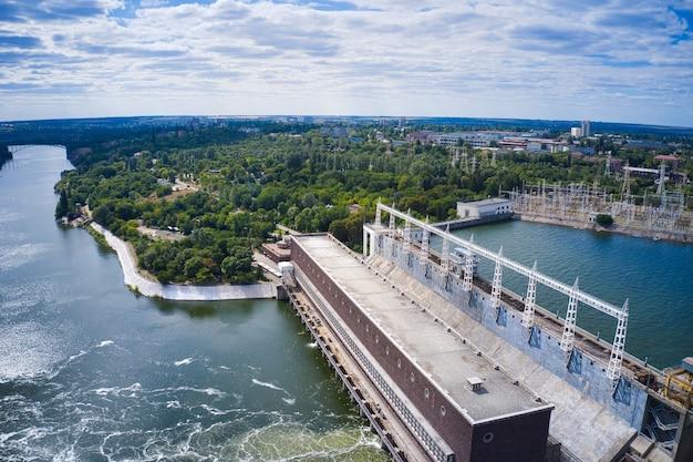 Dnieper hydroelectric power station in zaporozhye