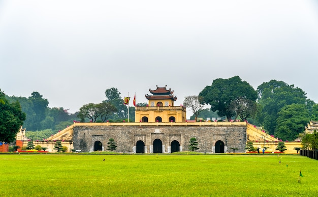 Doan mon, the main gate of thang long imperial citadel. in hanoi, vietnam