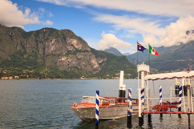 Dock of lake como