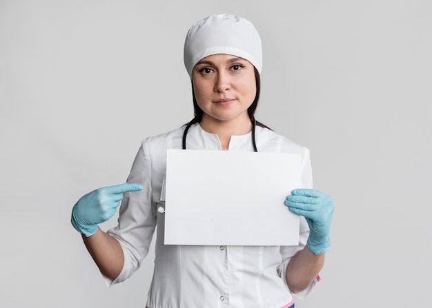 Doctor getting ready to start work