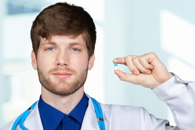 Doctor giving you a pill