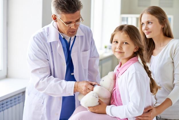 Doctor healing the teddybear