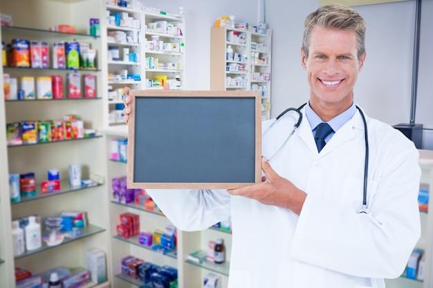 Doctor medical uniform empty pharmaceutics