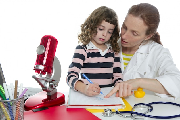 Doctor natural sciences teaching school pupil