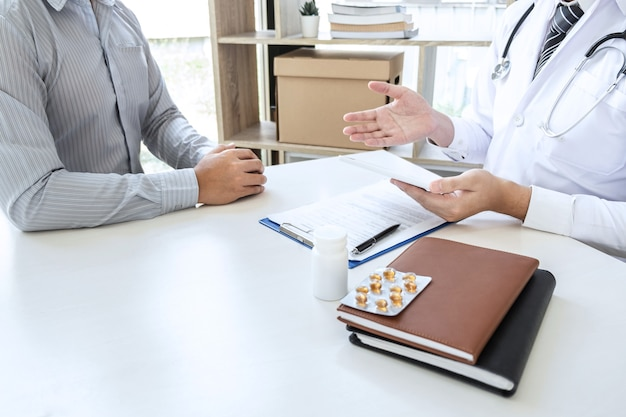 Doctor and patient are discussing