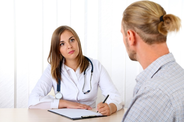 Doctor and patient at office
