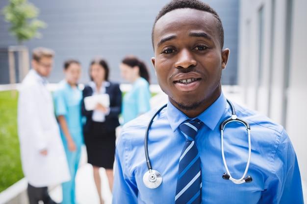 Doctor standing in hospital premises