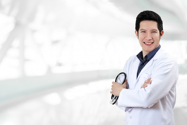 Doctor white blur background