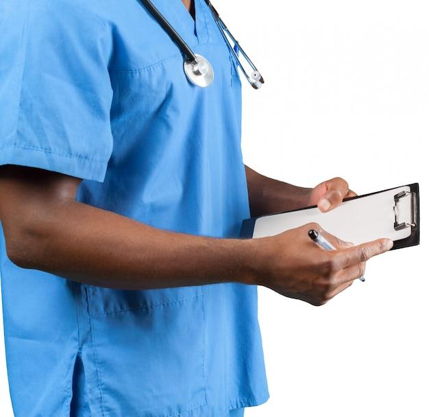 플립 차트 흰색 절연 의사