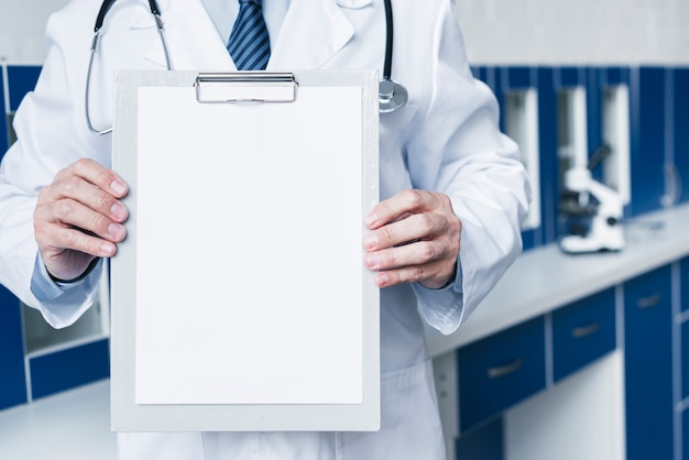 Doctor with a medical report