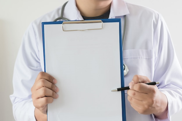 Doctor workhard patient and notes medical copy space
