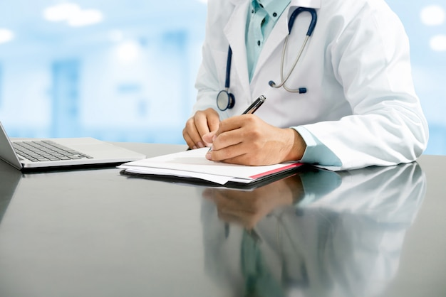 Doctor working in hospital. healthcare and medical service.