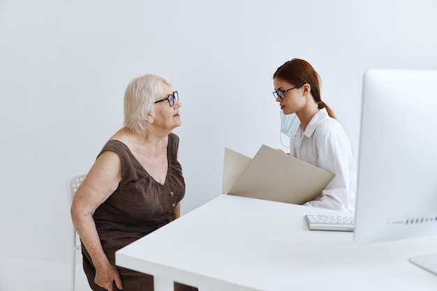 Doctors in the medical office patient examination health diagnostics