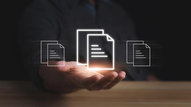 Document management system (dms), online documentation database. corporate business technology.