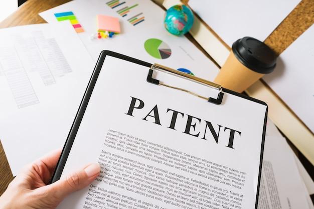 발명 특허 등록 서류.