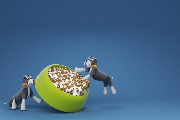 Деятельность собаки 3d иллюстрация