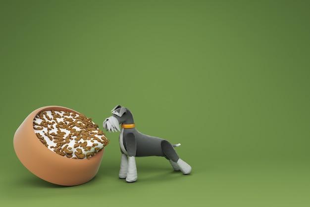 犬の活動3dイラスト