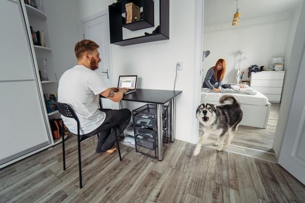 Dog barking at home
