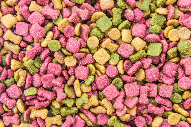 Dog closeup red nutrition food