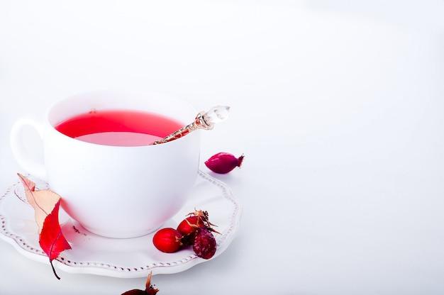 Dog rose tea - healthy beverage autumn