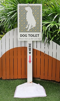 Dog toilet sign, poop zone sign