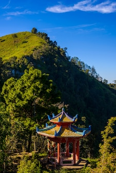 Doi pha tang viewpoint ,chiang rai province in thailand.  beautiful location