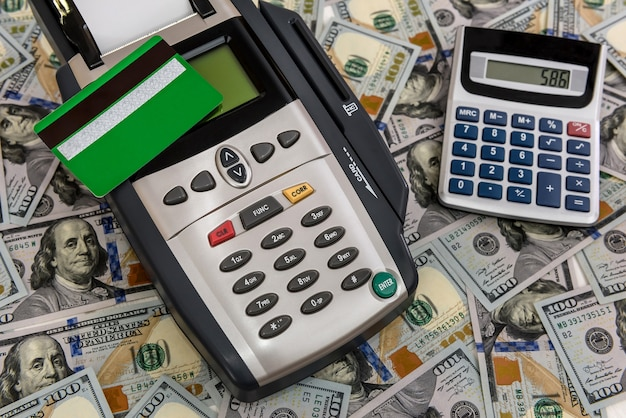 Dollar background for banking terminal and calculator
