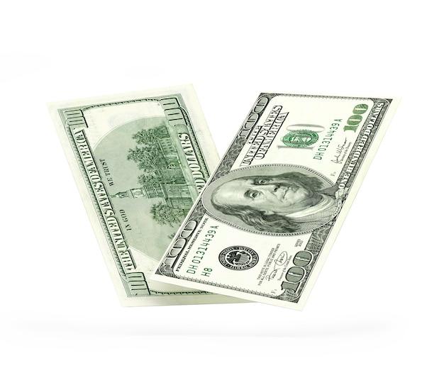 Долларовая купюра с разных сторон