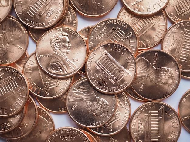 달러 동전 배경