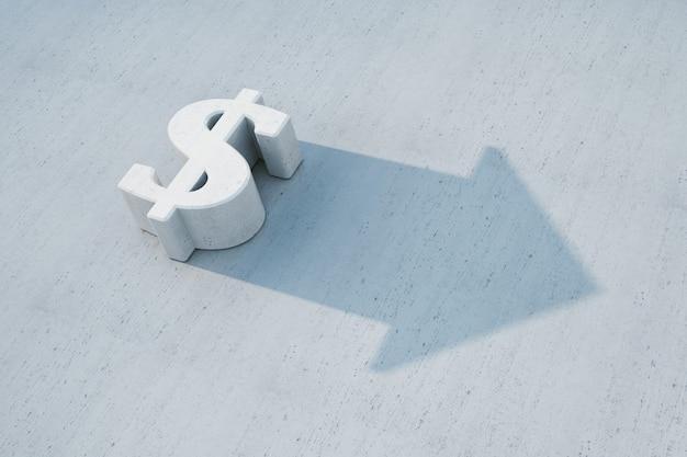 Dollar is grow, 3d concept