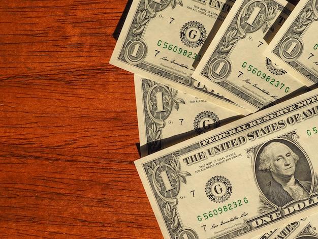 ドル紙幣、コピースペースのある米国