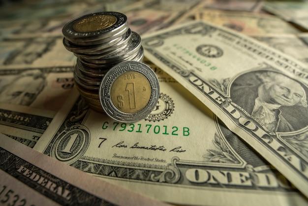 Dollar and peso